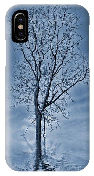 Flooded iPhone Case - Winter Floods by John Edwards