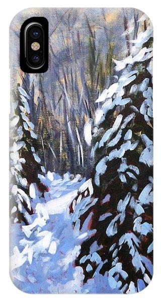 Winter Forest Walk IPhone Case