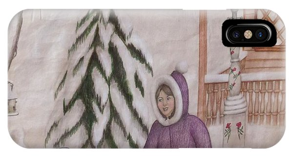 Winter Fun In Fort Hill Phone Case by Diane Mitchell