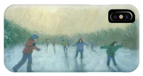 Winter iPhone Case - Winter Games by Steve Mitchell