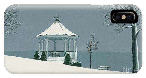 Winter Gazebo Phone Case by Michael Swanson