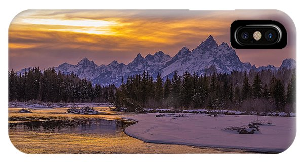 Winter Glow Over The Tetons IPhone Case