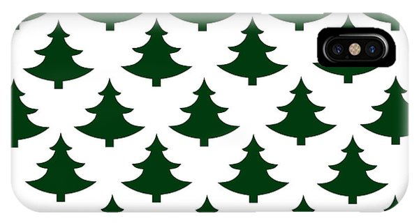 Holiday iPhone Case - Winter Green Christmas Tree by Chastity Hoff