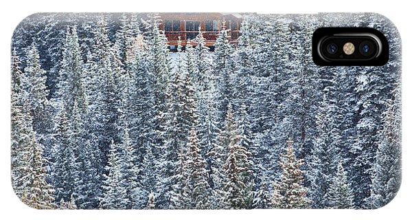 Cabin iPhone Case - Winter Hideaway by Darren  White