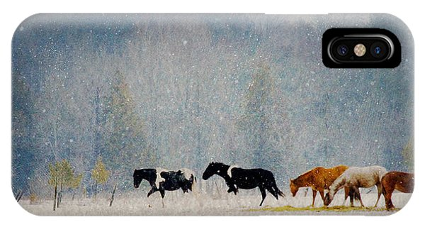 Winter Horses IPhone Case
