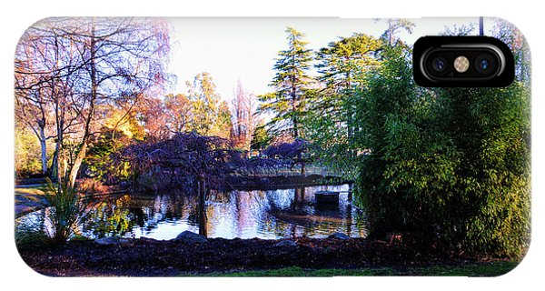 Winter In Beacon Hill Park Victoria Bc IPhone Case