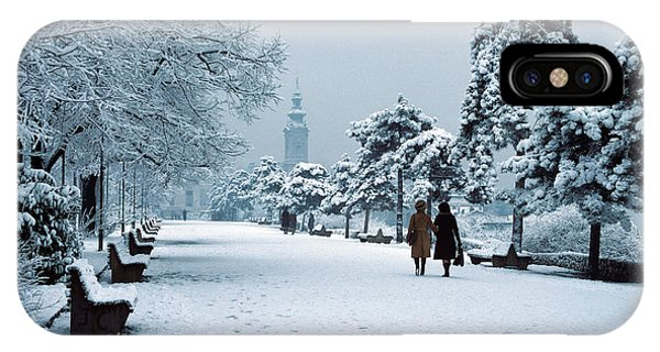Winter In Belgrade IPhone Case
