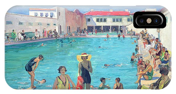 Sunbather iPhone Case - Winter In Florida by Sir John Lavery