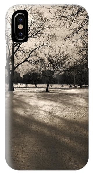 Winter In The Park IPhone Case