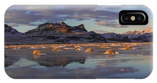 Nikon iPhone Case - Winter In The Salt Flats by Chad Dutson