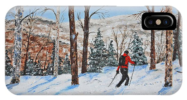 Winter In Vermont Woods IPhone Case