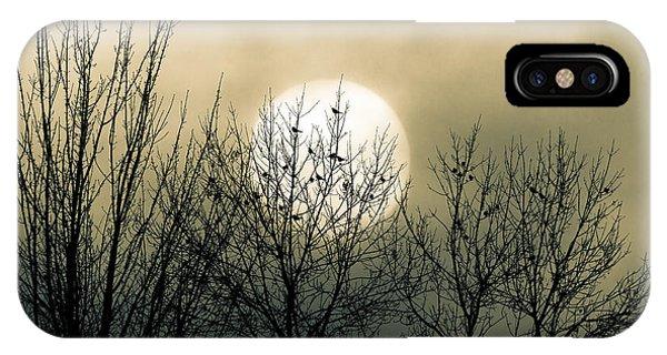 Moon iPhone Case - Winter Into Spring by Bob Orsillo