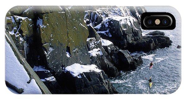 Winter Kayaking IPhone Case