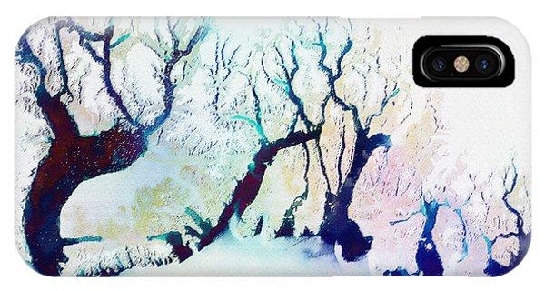 Fractal Landscape iPhone Case - Winter Landscape by Klara Acel