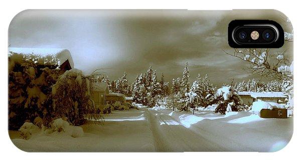Winter Lane IPhone Case