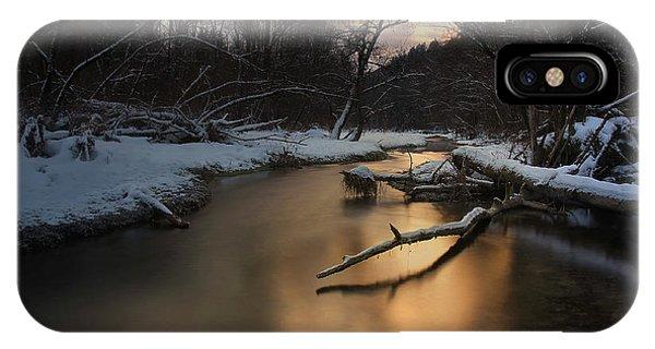 Reflection iPhone Case - Winter Light by Norbert Maier