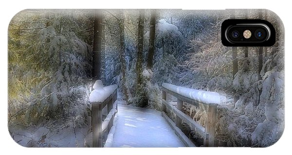 Winter Light On Bridge IPhone Case