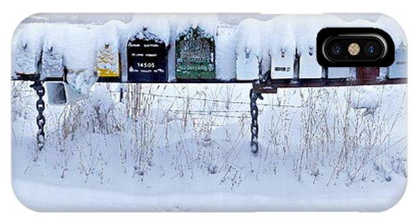 Winter Mailbox Panorama IPhone Case
