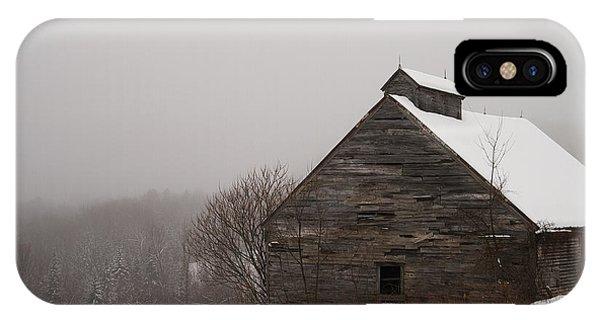 Winter Maine Barn IPhone Case