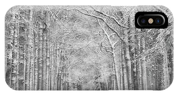 Snowy Road iPhone Case - Winter Mood by Saskia Dingemans