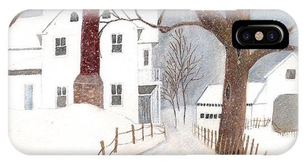 Winter Morning At The Big White House IPhone Case