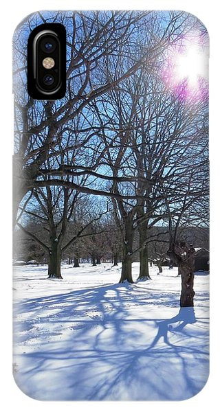 Winter Morning Boston Back Bay  IPhone Case