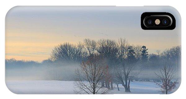 Winter Morning Fog IPhone Case
