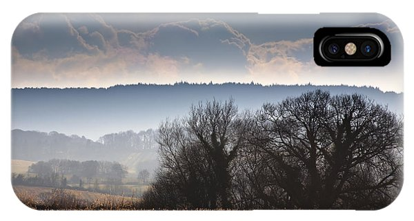 English Countryside iPhone Case - Winter Morning by Jan Bickerton