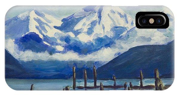 Winter Mountains Alaska IPhone Case