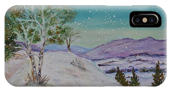 Winter Mountains With Hare IPhone Case