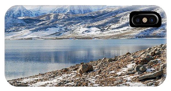 Winter Mt. Timpanogos And Deer Creek Reservoir IPhone Case