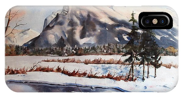 Winter Near Banff IPhone Case