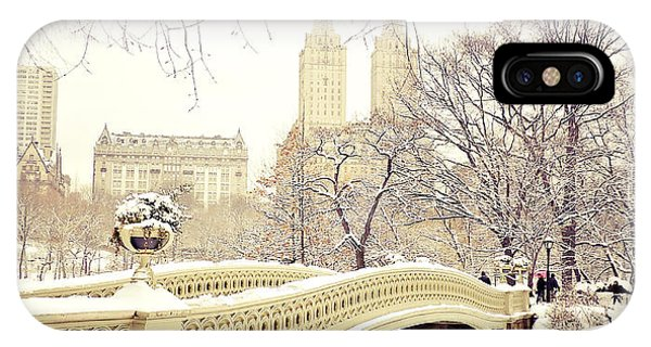 Winter - New York City - Central Park IPhone Case