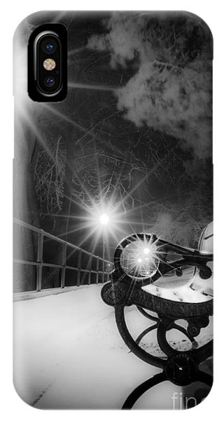 Winter Night Along The River IPhone Case