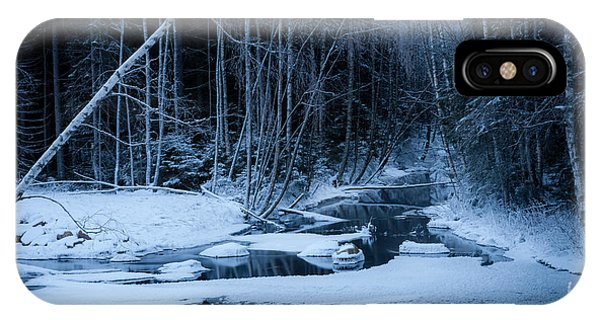 Winter Night At The River IPhone Case