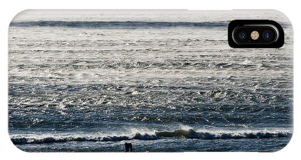 Winter Ocean Rockaway Beach IPhone Case