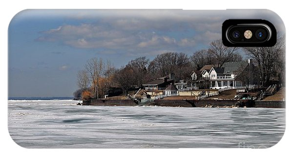 Kingsville iPhone Case - Winter On Lake Erie by Robin Lusk