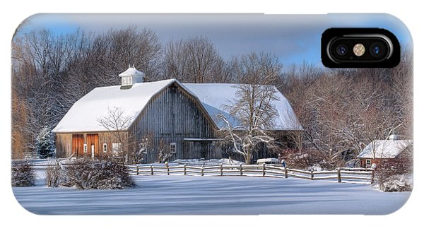 Winter On The Farm 14586 IPhone Case