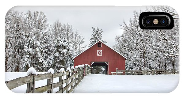 Winter On The Farm IPhone Case
