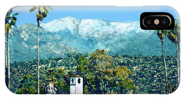 Winter Paradise Santa Barbara IPhone Case