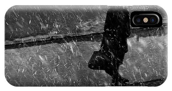 Winter iPhone Case - Winter Passengers. The Shield by Nicoleta Gabor