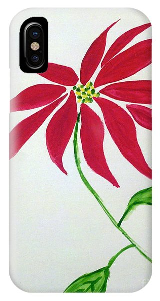 Winter Poinsettia IPhone Case