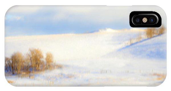 Winter Poplars IPhone Case