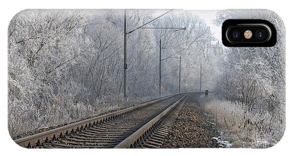 Winter Railroad IPhone Case