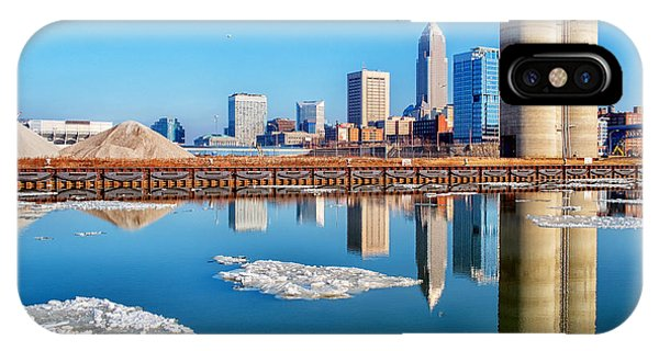 Winter Reflections Of Cleveland Ohio IPhone Case