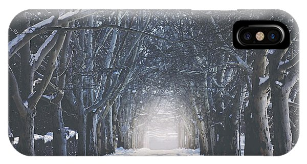 Winter iPhone Case - Winter Road by Carrie Ann Grippo-Pike