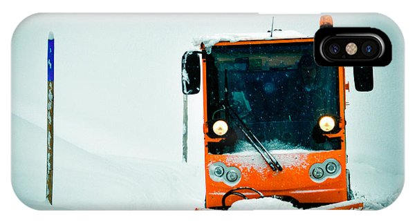 Orange iPhone Case - Winter Road Clearance by Matthias Hauser