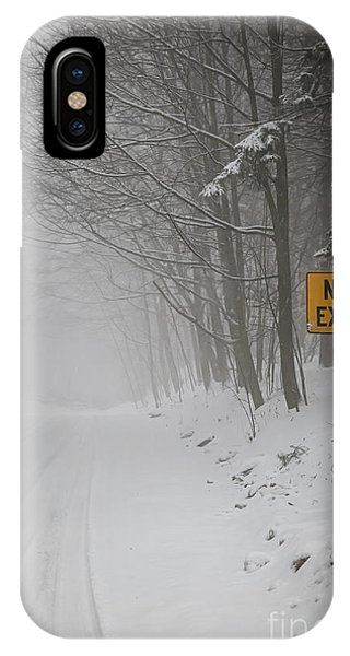 Snowy Road iPhone Case - Winter Road During Snowfall I by Elena Elisseeva