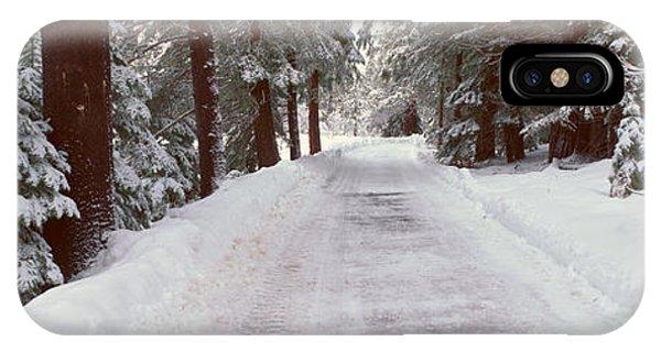 Winter Road Near Lake Tahoe, California IPhone Case