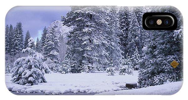 Winter Road, Yosemite Park, California IPhone Case